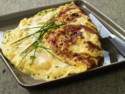 Recette : Omelette baveuse au fromage - Recette au fromage