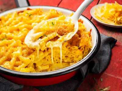 Recette : Gratin de macaronis au cheddar (mac and cheese) - Recette au fromage