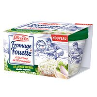 ELLE & VIRE FROMAGE FOUETTE AIL ET FINES HERBES 140G