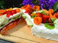 Recette : Sandwich cake aux légumes du soleil - Recette au fromage